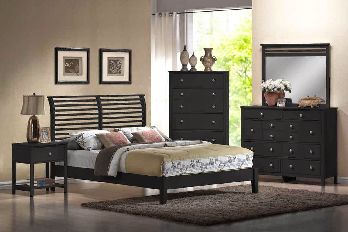 bedroom furniture black