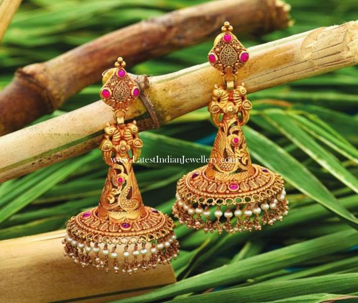 Cone Shape Antique Jhumkas