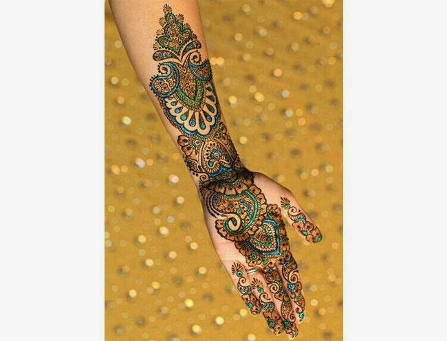 Shaded MEHENDI DESIGN