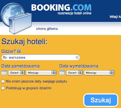 Booking.com - strona główna
