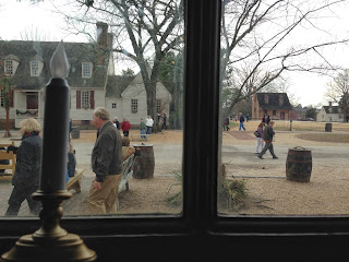 View from the dining room at Josiah Chowning's Tavern in Colonial Williamsburg, VA