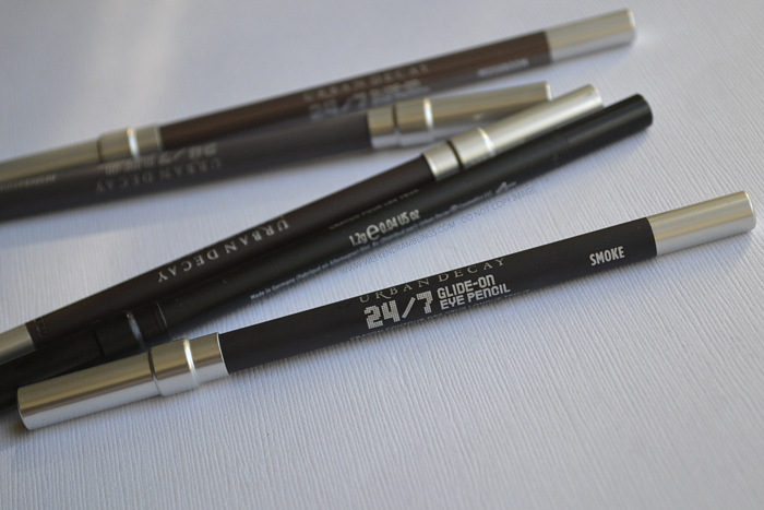 Urban Decay 24-7 Glide On Pencil Eyeliner Smoke - Photos Swatches Review FOTD