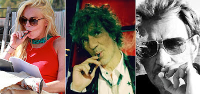 Cigarette Electronique : Lindsay Lohan, Louis Bertignac, Johnny Hallyday