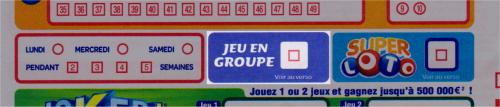 bulletin de jeu du LOTO - option Jeu en groupe