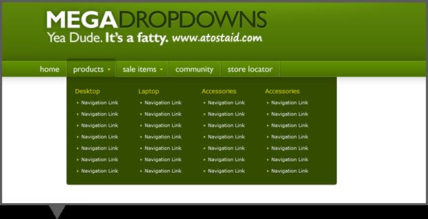 Style Mega Dropdown Menu dengan CSS