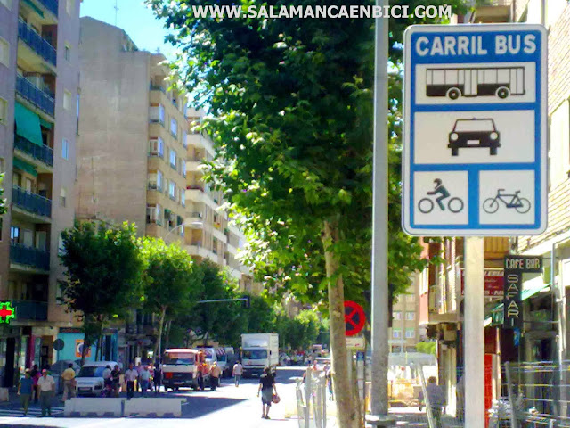 salamanca, carril bici, maría auxiliadora, calle ciclista