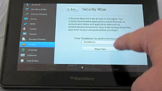 How to reset blackberry playbook