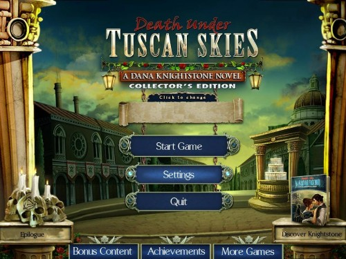 Death Under Tuscan Skies: A Dana Knightstone Novel Collector's Edition Main Menu