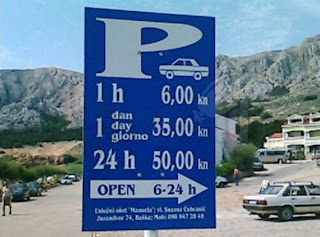 funny sign: Parking hours