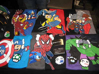 The Avengers Atama Collection by Loyal K.N.G. - Iron Man, Wolverine, Thor, Captain America, Spider-Man & The Incredible Hulk T-Shirts