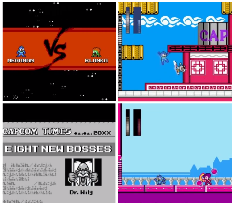 Street Fighter x Mega Man 2012 new 8-bit style Megaman game for Megaman's 25th Anniversary