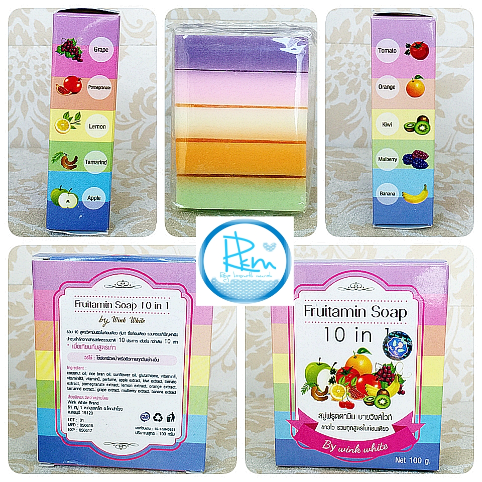 The Best Skin Care Fruitamin Soap 10 In 1 By Wink White Sabun Pancea Body Bpom Resmi Pemutih Badan Idr 52000