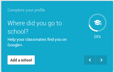 school or collage information on Google+ Profile