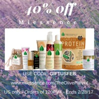 40% off of Miessence Skin & Bodycare Range