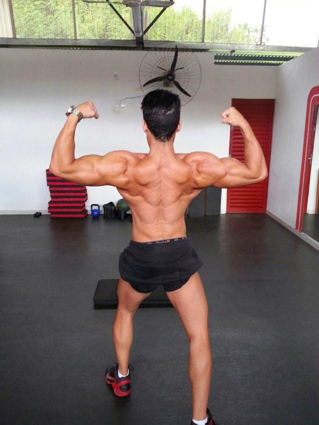 O fisiculturista está em fase de pre contest e mostra o resultado. Foto: Arquivo pessoal