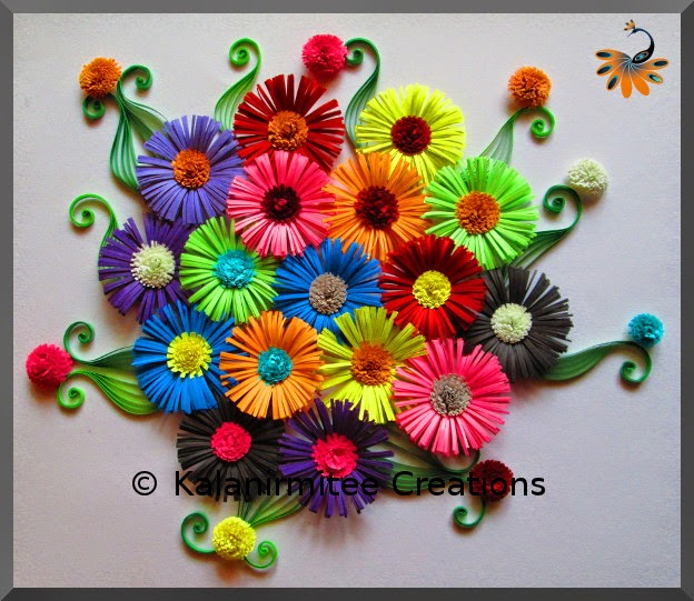 Quilled fringe flowers kalanirmitee creations kalanirmitee paper quilling quilled flowers fringe flowers mightylinksfo