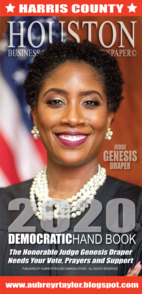 Judge Genesis Draper for Harris County Criminal Court at Law #12, Tuesday, March 3, 2020