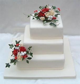 Christmas wedding cake Images