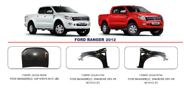Kap Mesin Ford Ranger 2012