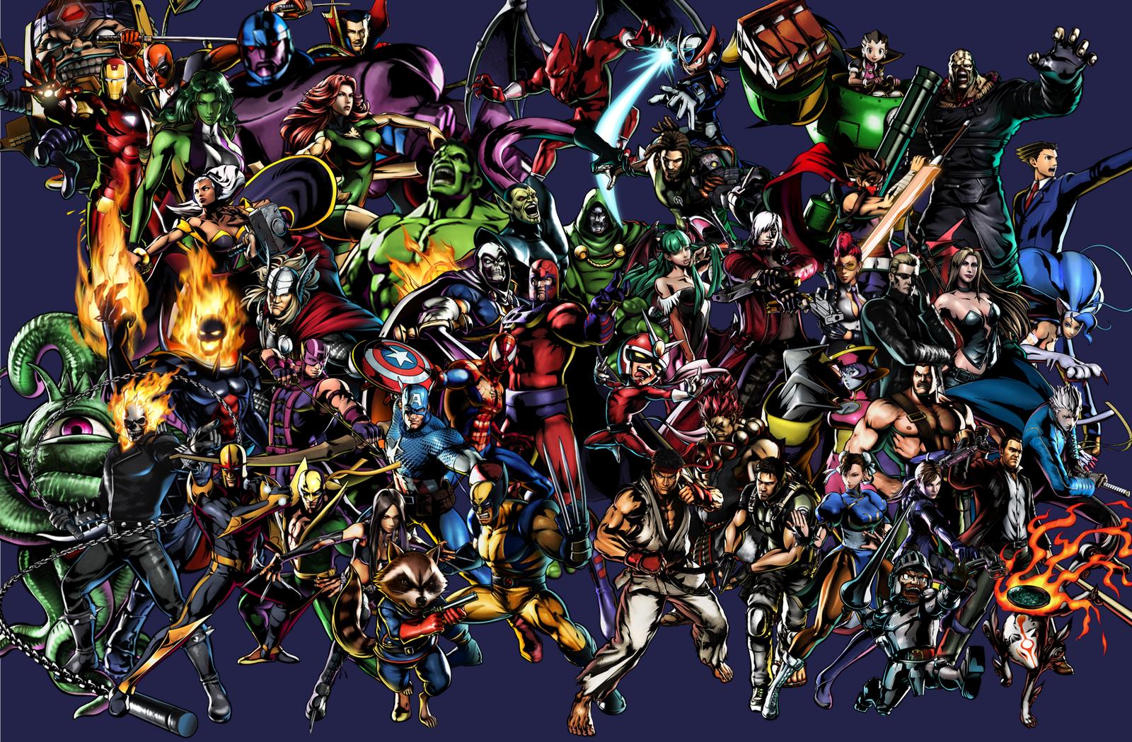 wallpaper de marvel vs capcom: