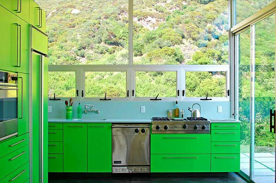 Orange And Lime Green Kitchen : DESIGN my heart out: color in the kitchen: 9 colorful kitchen cabinets