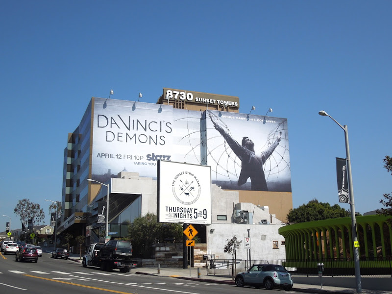 Da Vincis Demons billboard Sunset Strip