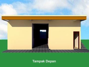 Gambar Desain Kamar Kost Mahasiswa - Tampak Depan