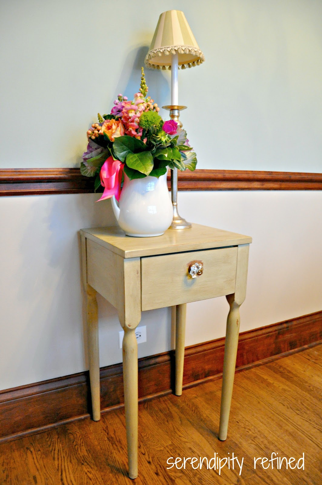 Serendipity Refined Blog Side Table Makeover Painted