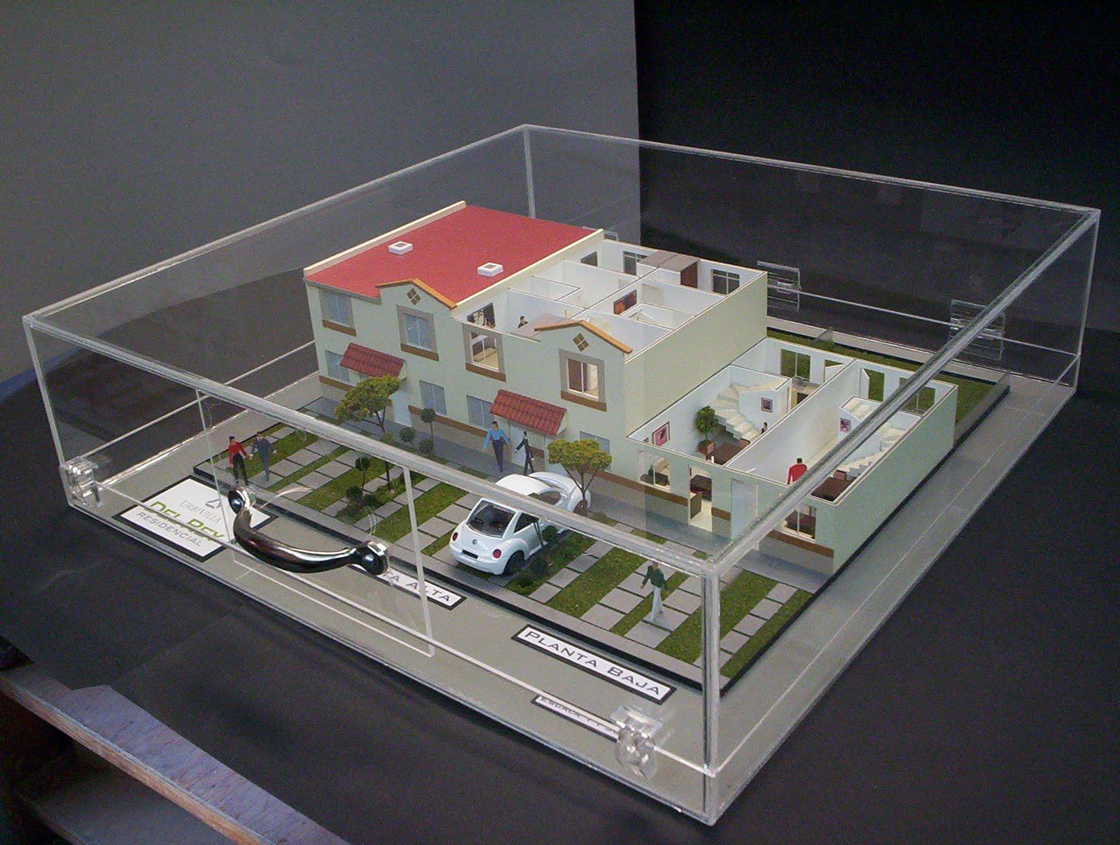 Maqueta de prototipo de Casa Habitación escala 1:50 montada en