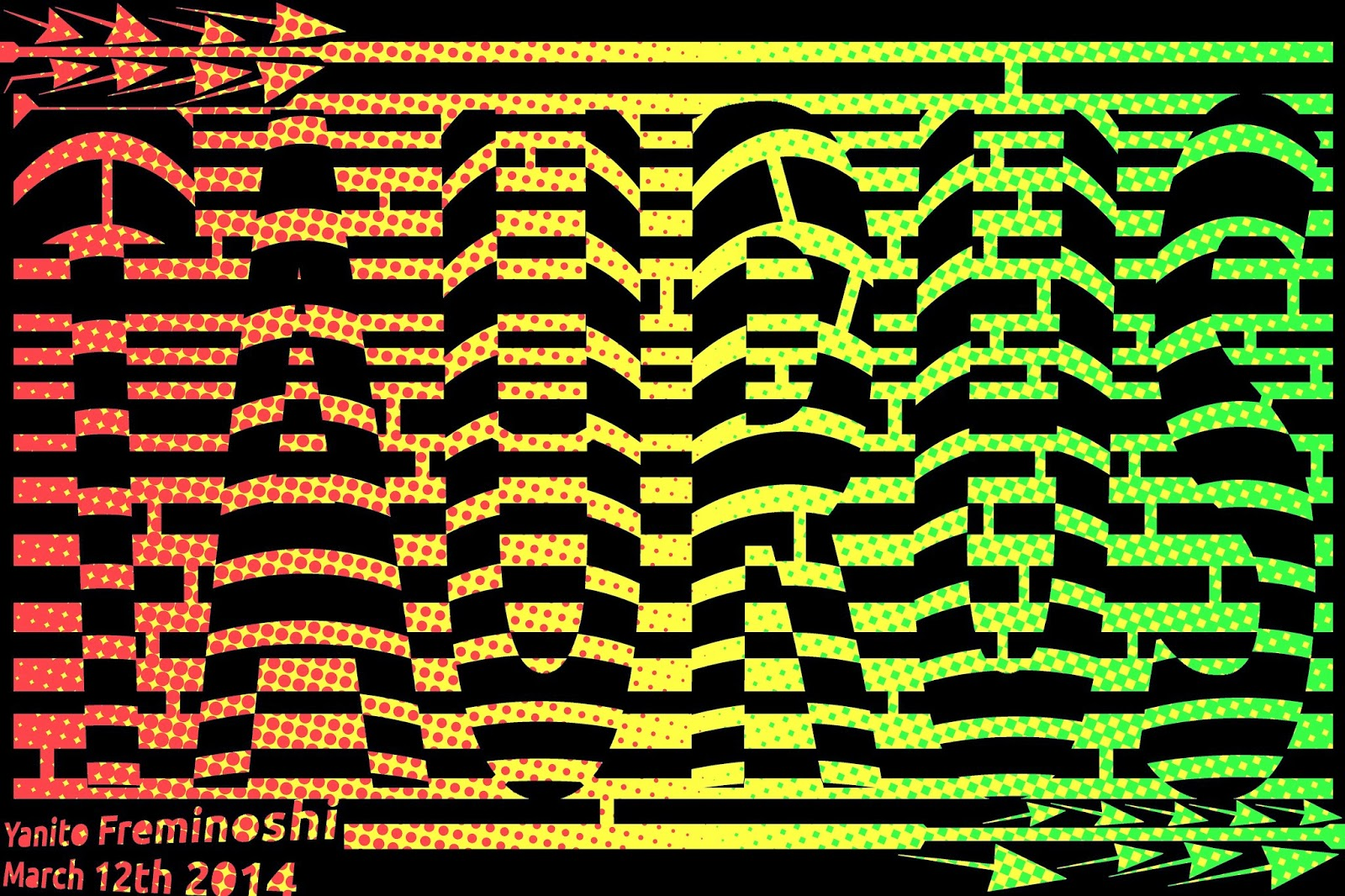 Taurus Maze in Op Art Font | Yanito Freminoshi