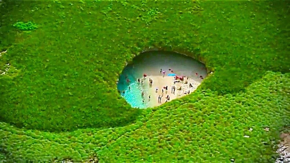 Playa oculta de las Marietas (México)