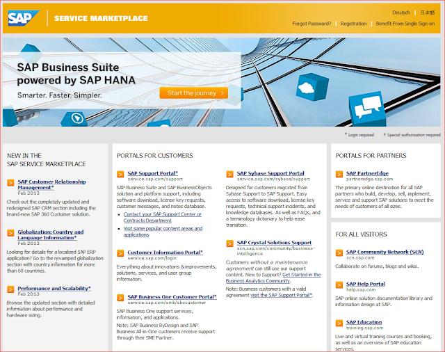 Pagina del Marktetplace de SAP