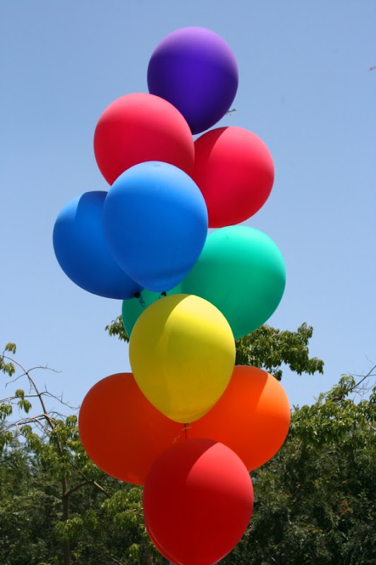 LA Pride Parade 2013 balloons