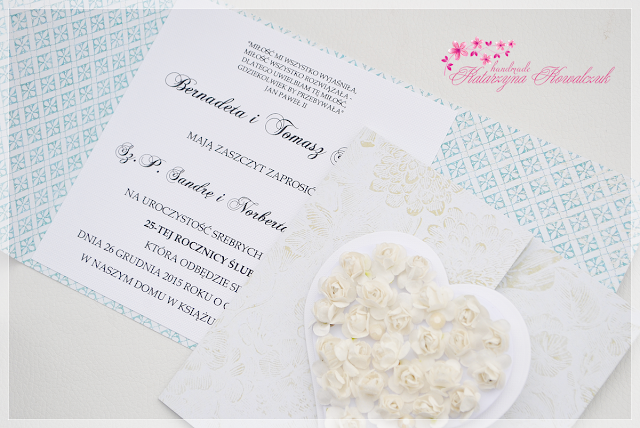 zaproszenie na 25lecie ślubu