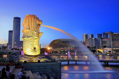 Mua vé máy bay đi Singapore giá rẻ - Công viên Merlion