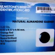 Batu Permata Almandine Garnet - SP947+Memo