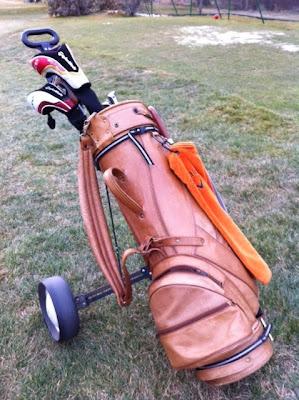 Bolsa de cuero de golf