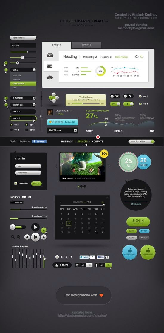 Free User Interface Elements Pack