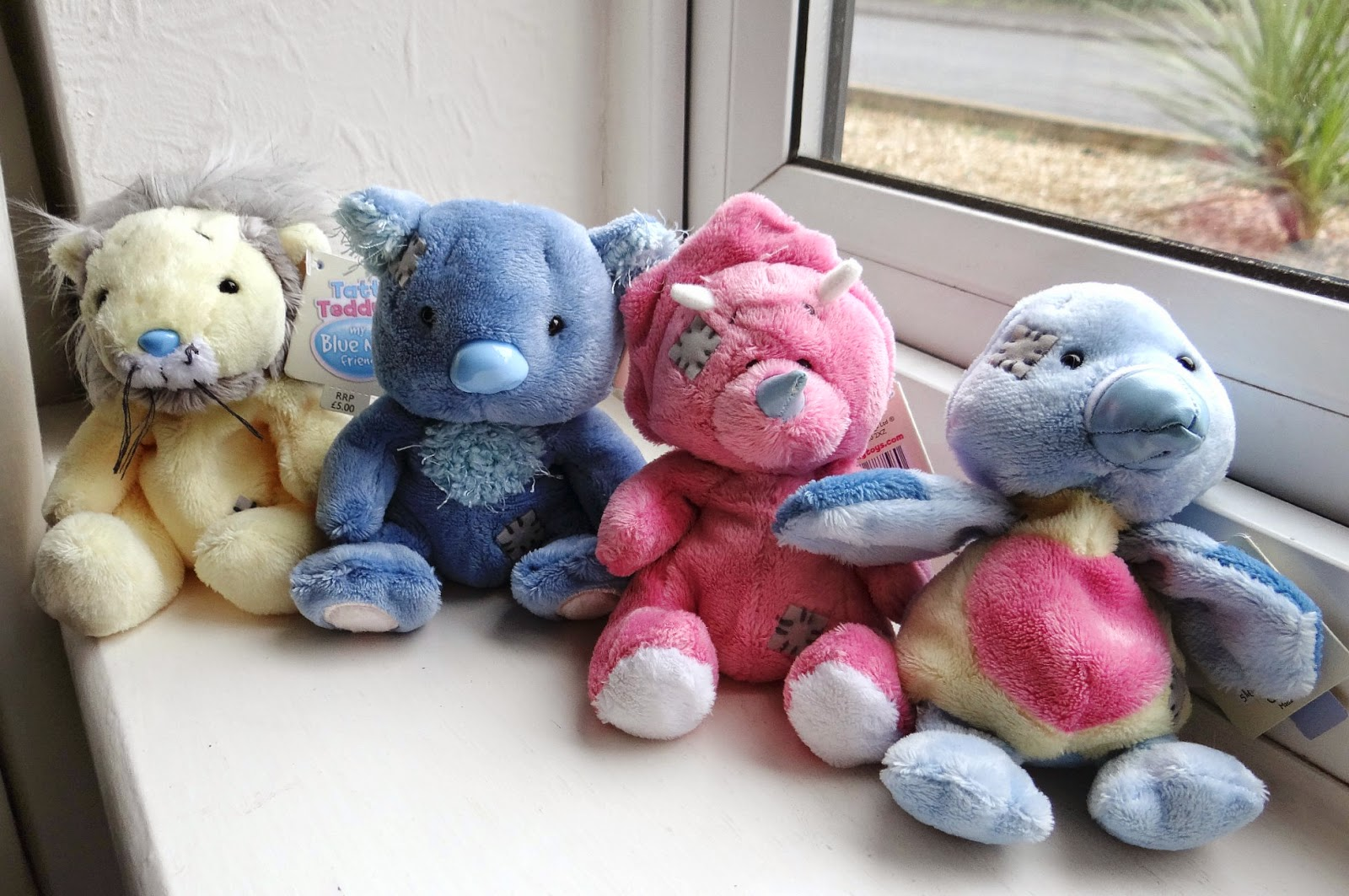 Tatty Teddy Blue Nose Friends soft toys, Tatty Teddy beanies, blue nose friends plush