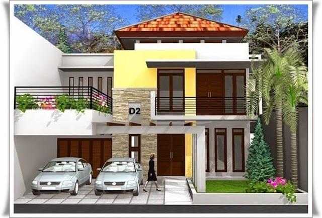contoh rumah tingkat minimalis modern