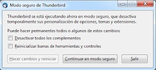recuperar password en thunderbird