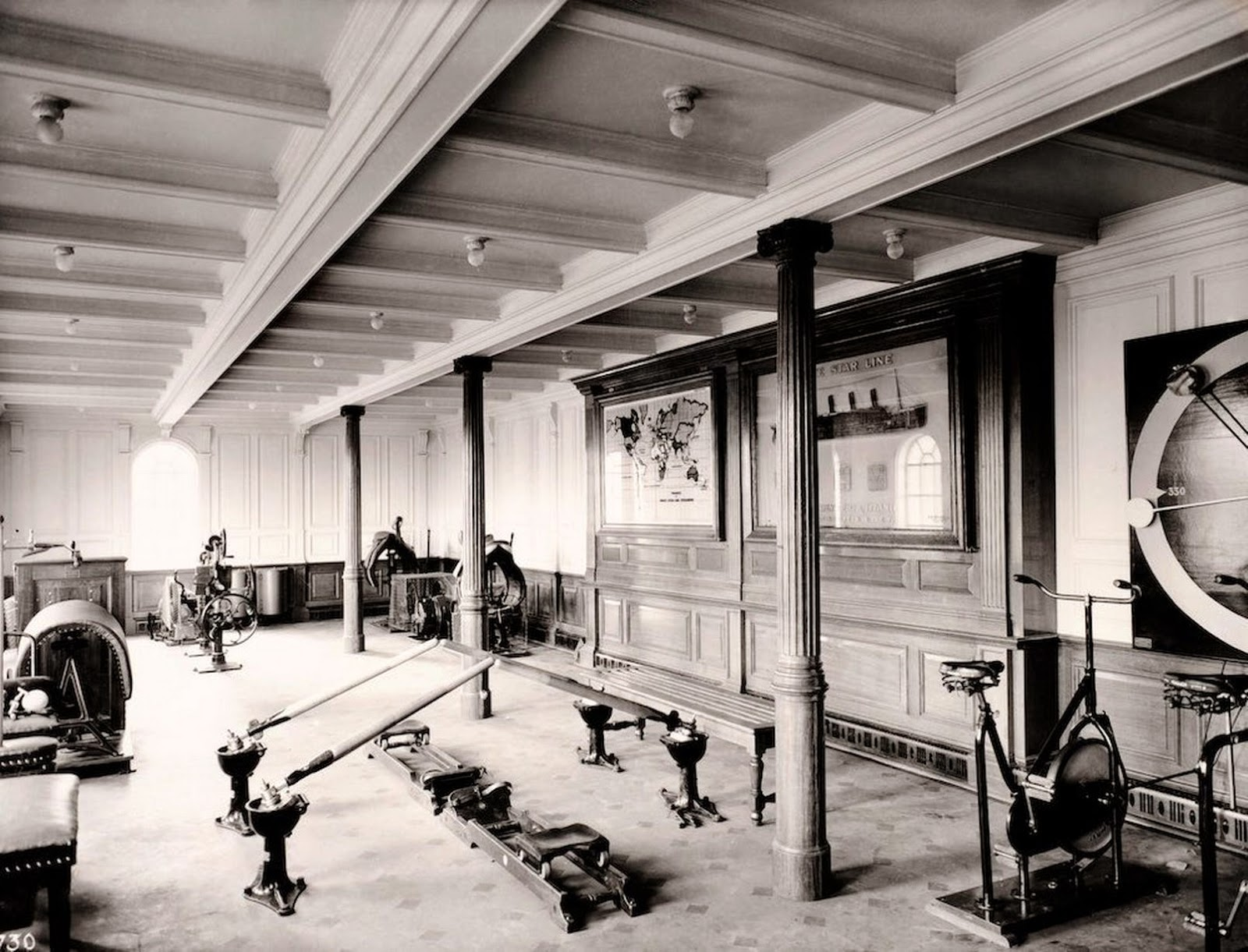 Pictures Of The First Class Gyms On The Titanic And Cruise