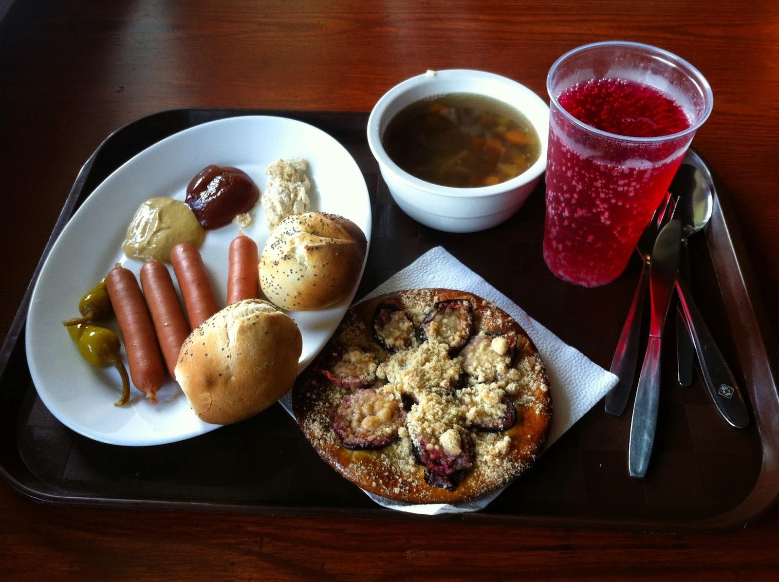 Oběd v bufetu na Labské boudě