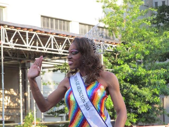 Miss Gay Arlington 2013 at the Capital Pride Parade