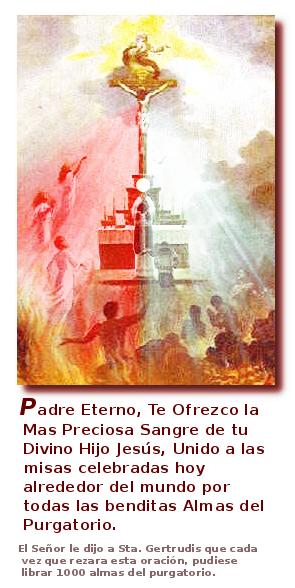 para orar por las animas santas y benditas del purgatorio