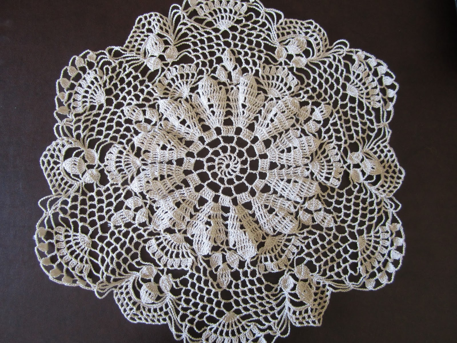 Crocheting Doilies Patterns : Lacy Crochet: My Shortcut to Blocking Doilies and Free Vintage Pattern