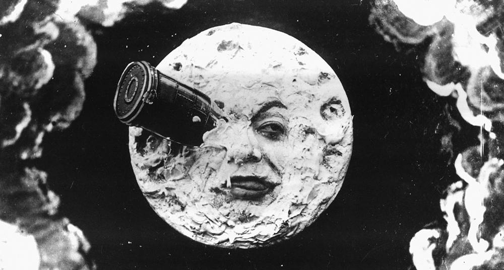 lua com uma bala no olho do filme voyage dans la lune