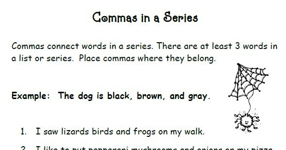 Smiling and Shining in Second Grade: Commas in a Series