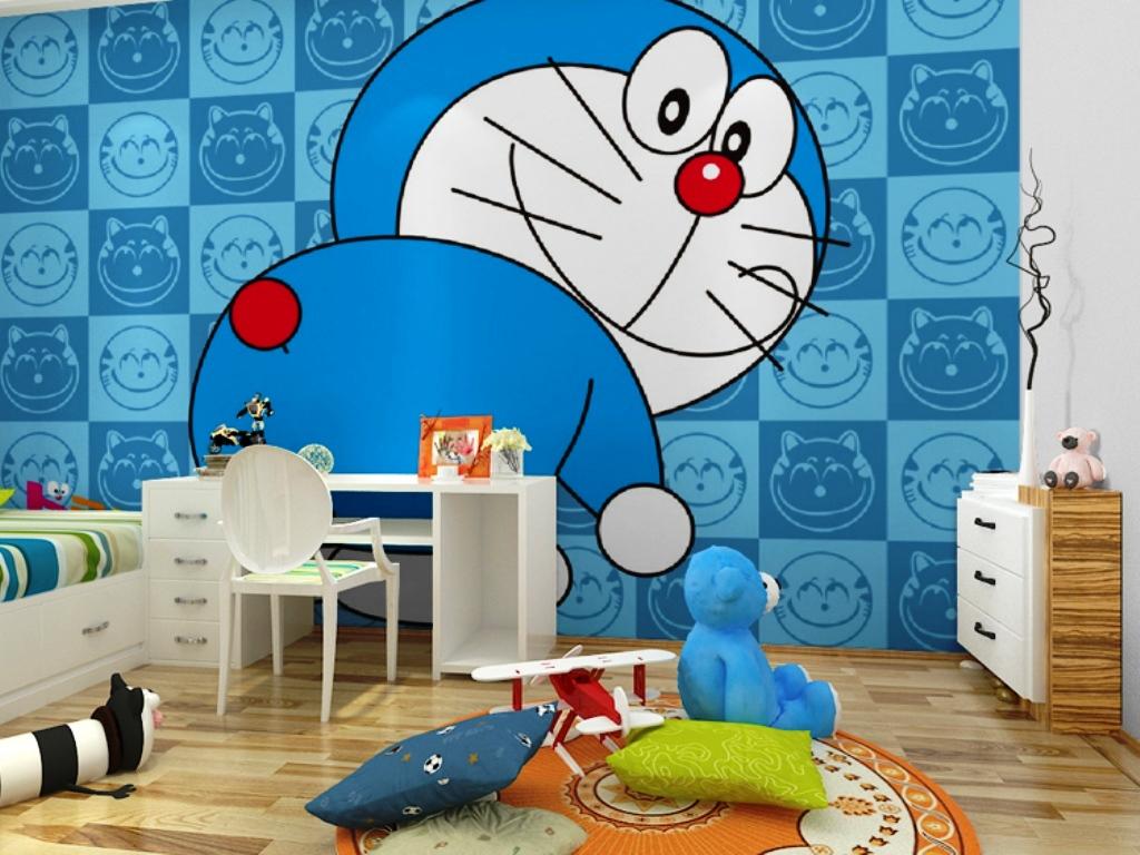 10 Gambar Wallpaper Dinding Kamar Tidur Anak Motif Doraemon Si