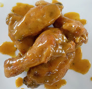sweet hot honey mustard wings